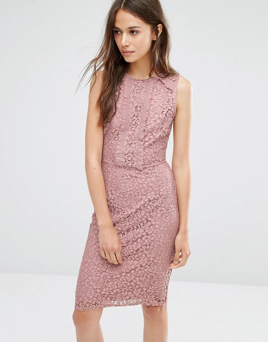 Warehouse   Warehouse Lace And Ruffle Dress at ASOS   Fashion ...