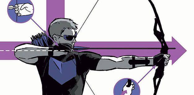 Fragmento de una de las portadas de David Aja para 'Ojo de Halcón'