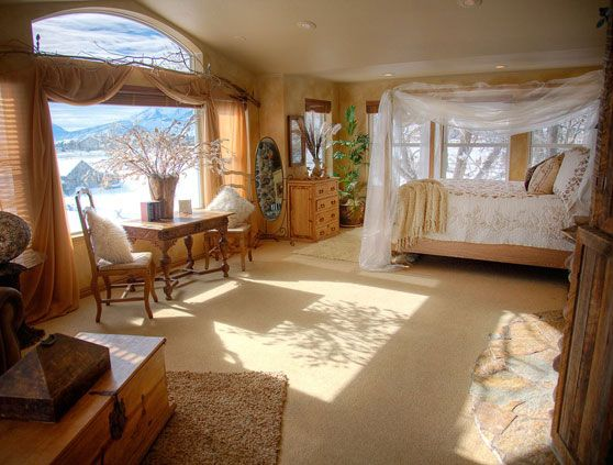 Talk about romance.  This is the Johnson Mill Honeymoon Suite. Johnson Mill is in  Utah