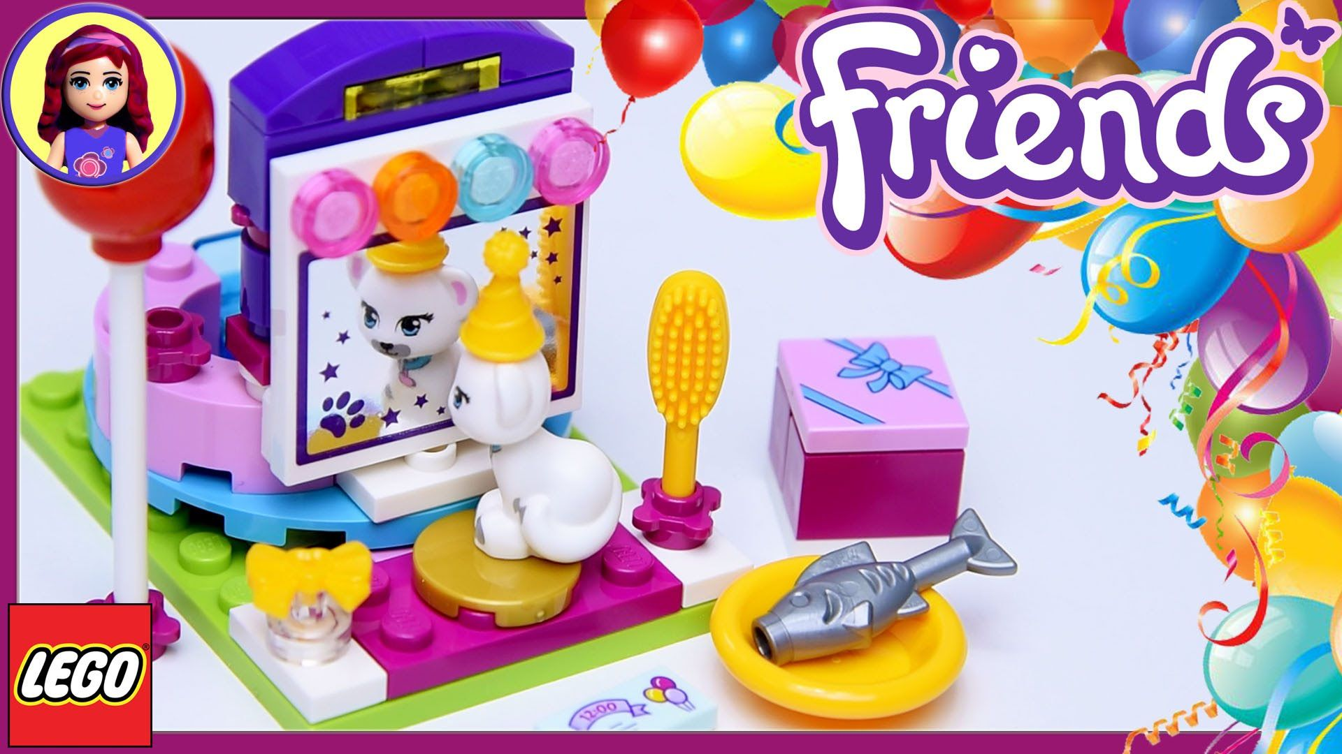 Lego Friends Party Styling with Millie Jewel the Cat