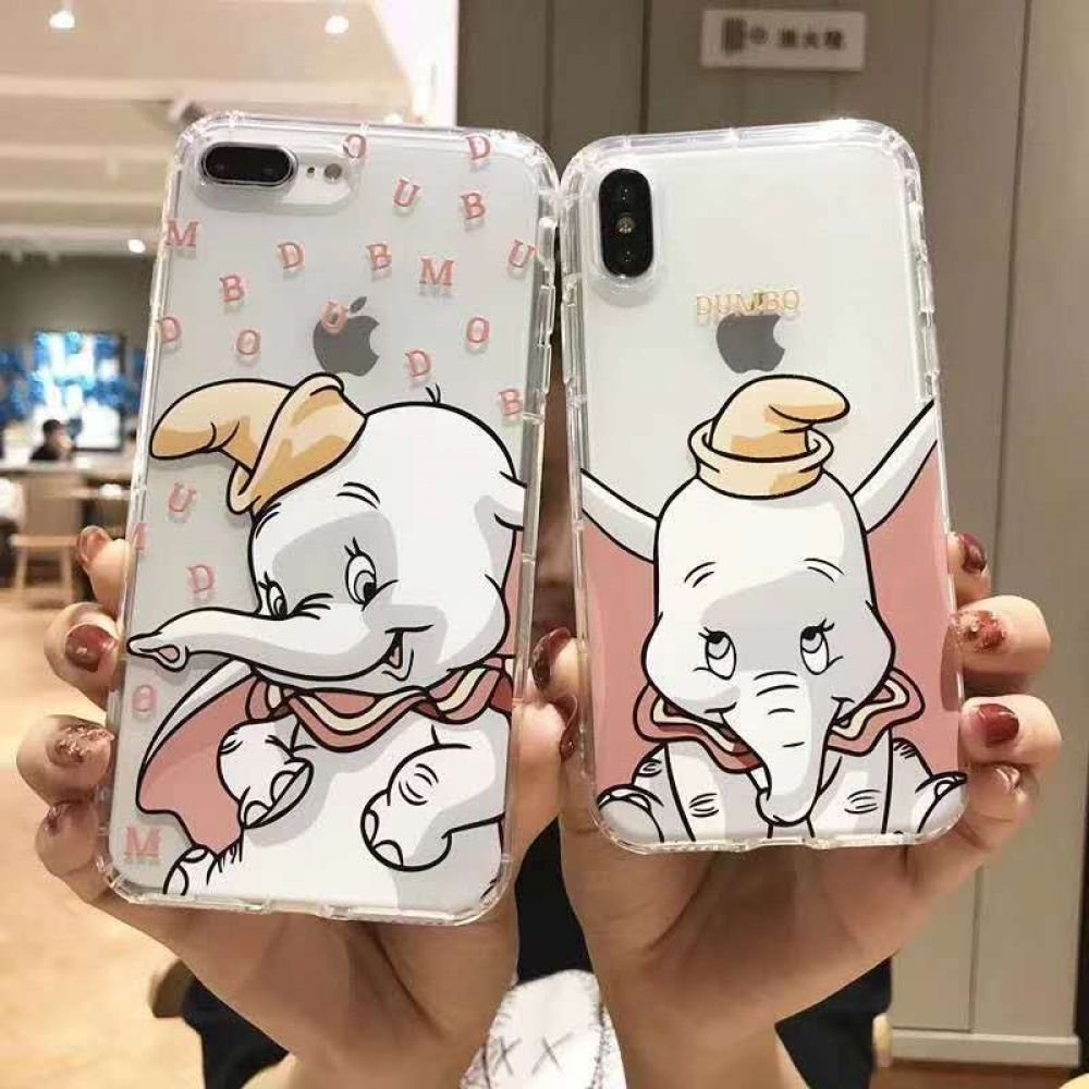 Cartoon cute flying elephant cover case for iphone in 2020
