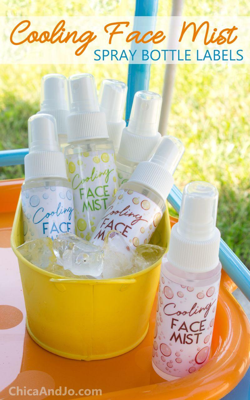 Diy Cooling Face Mist Spray Bottles With Printable Labels