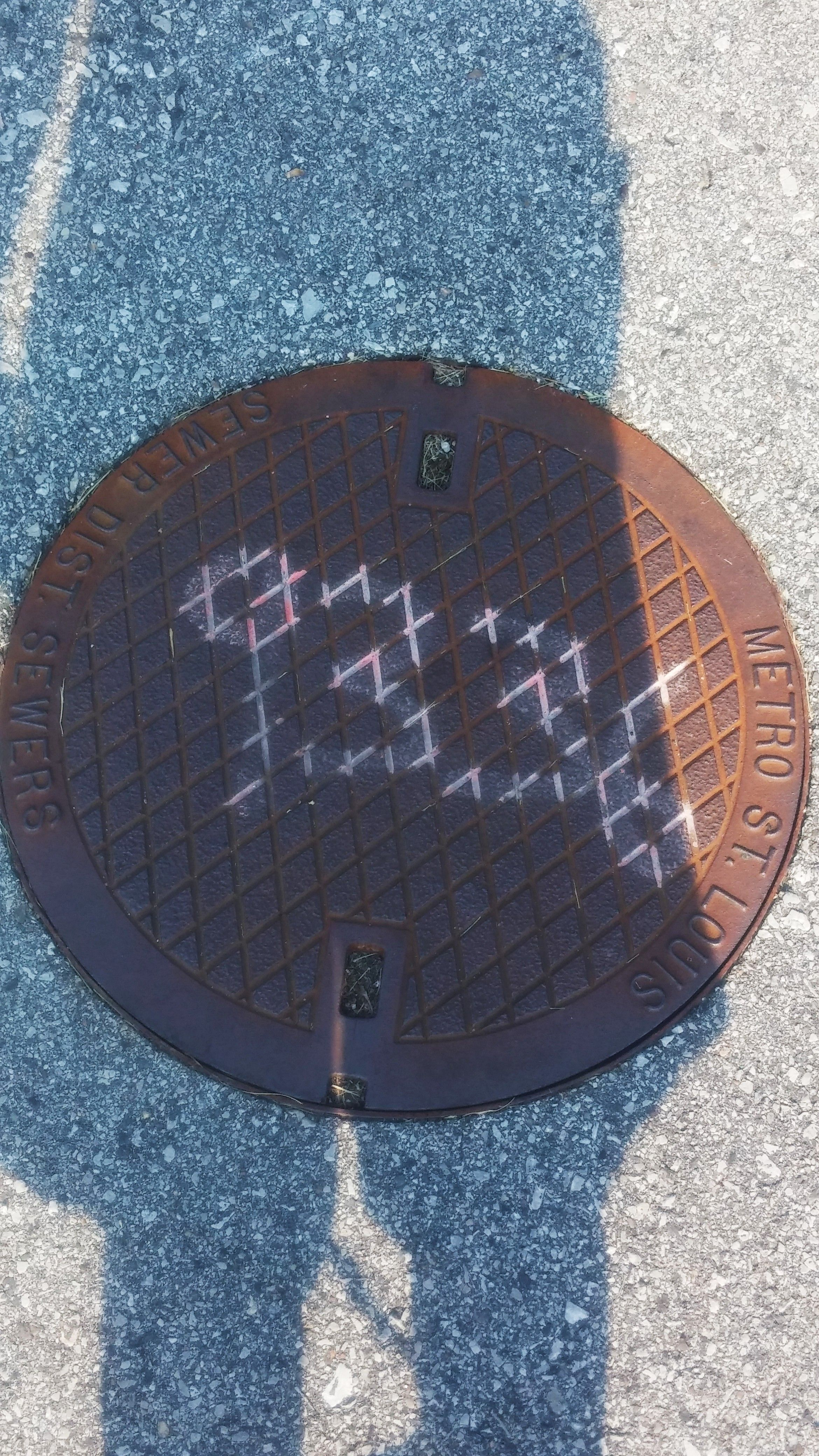 Manhole cover: supplementary angles, transversals, rhombuses, intersecting lines, parallel lines, 4 digit number
