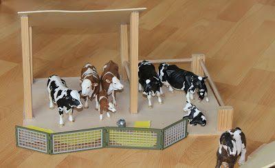 schleich playmobil test stall haus bauernhof h tte aus holz selber bauen basteln. Black Bedroom Furniture Sets. Home Design Ideas