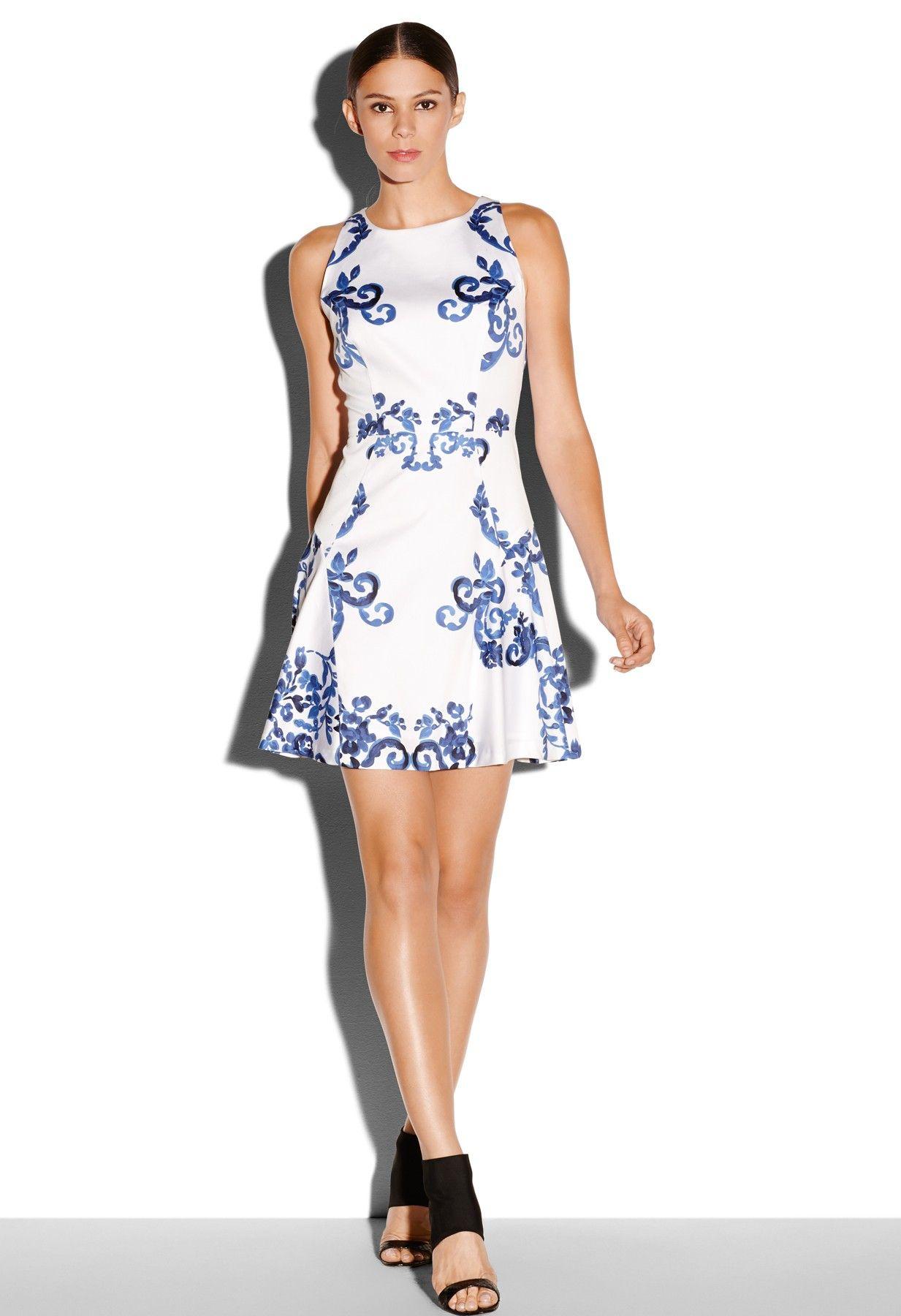 Milly Sleeveless Flare Dress