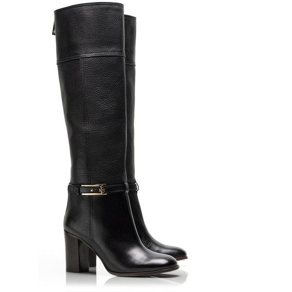8e086557152d Tory Burch Jenna Mid Heel Boot ( 525) found on Polyvore