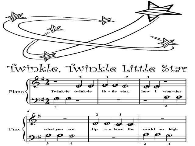 Piano Sheet Music For Beginners Twinkle Little Star Beginner