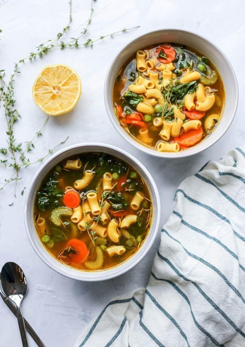 Healing Chickpea Noodle Soup #chickpeanoodlesoup Healing Chickpea Noodle Soup » The Glowing Fridge #chickpeanoodlesoup