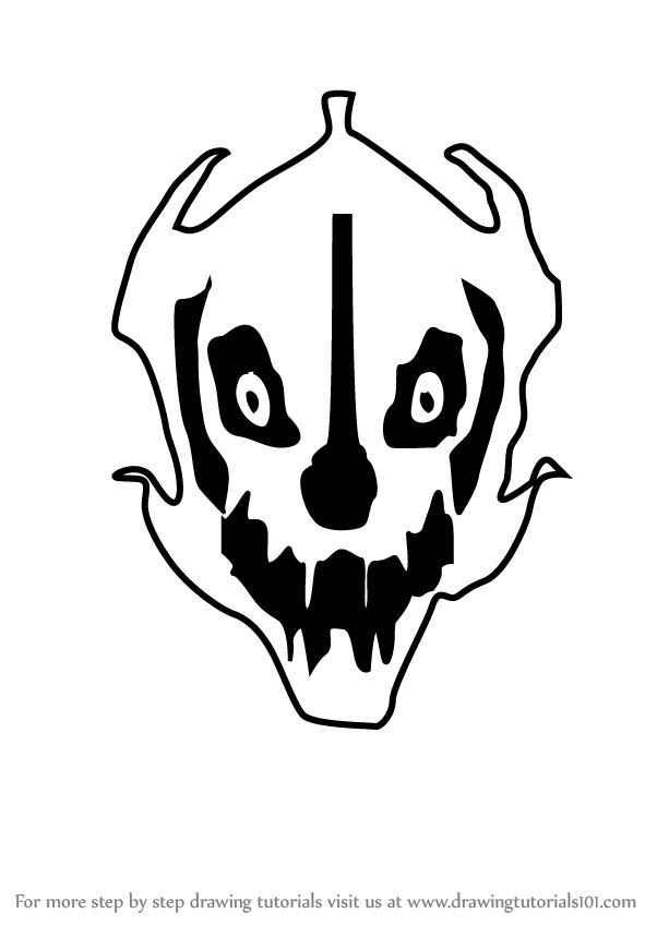 Learn How to Draw Gaster Blaster from Undertale (Undertale) Step by