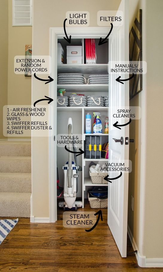 Superieur From Coat Closet To Cleaning Closet {Organizing In Style | Pinterest | Small  Coat Closet, Storage Ideas And Spaces