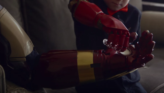 Robert Downey Jr. gives 7 year old boy his very own 'Iron Man' bionic arm.