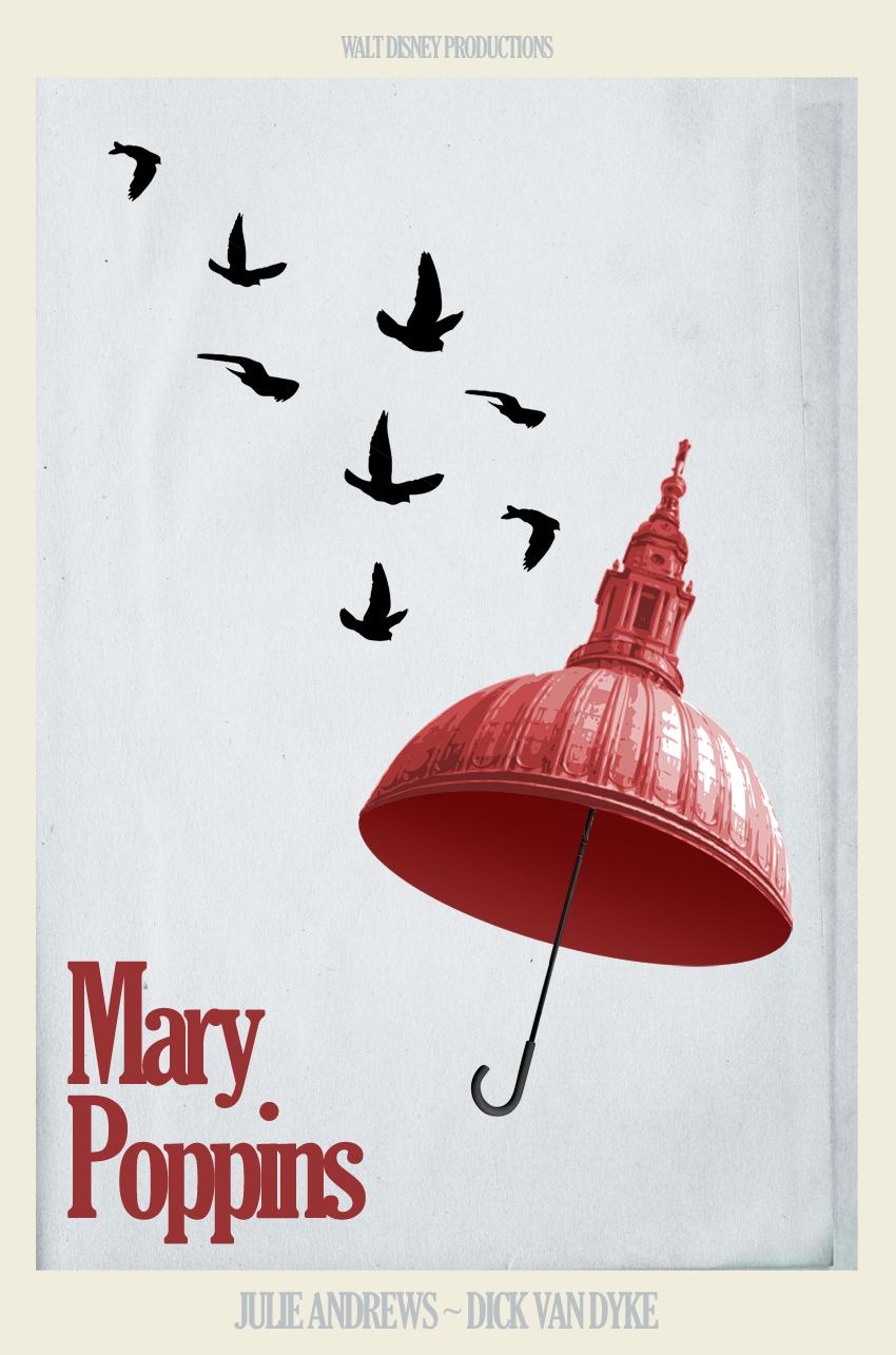 "Alternative ""Mary Poppins"" movie poster #1 <3"