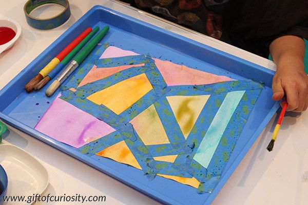 Tape Resist Watercolor Painting Art Projects For Teens