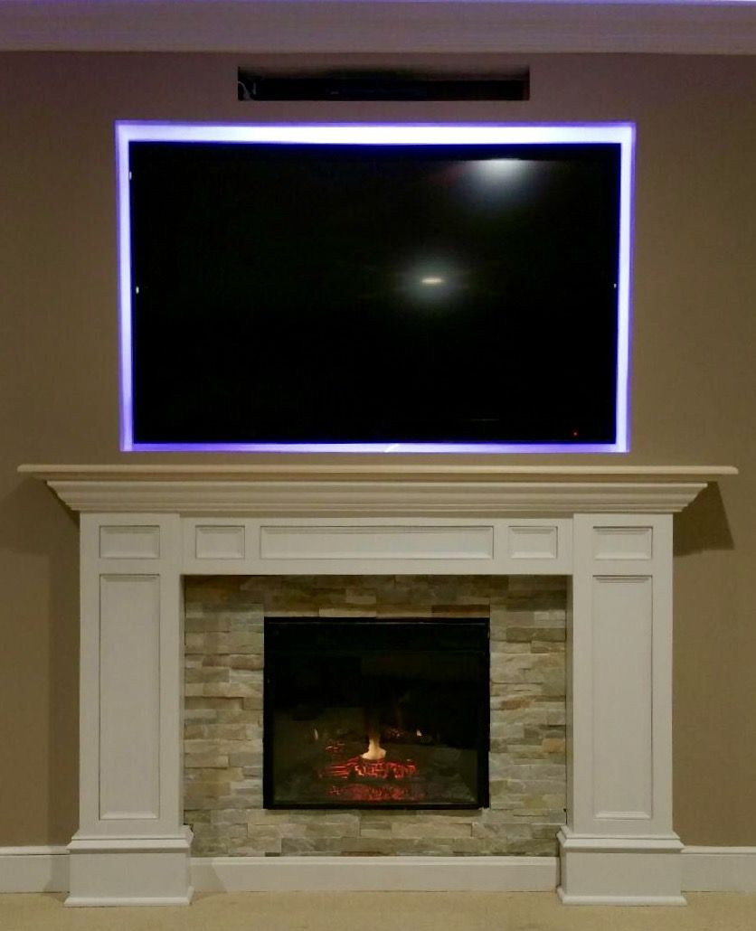 Diy fireplace mantel michaelus project came out amazing projects