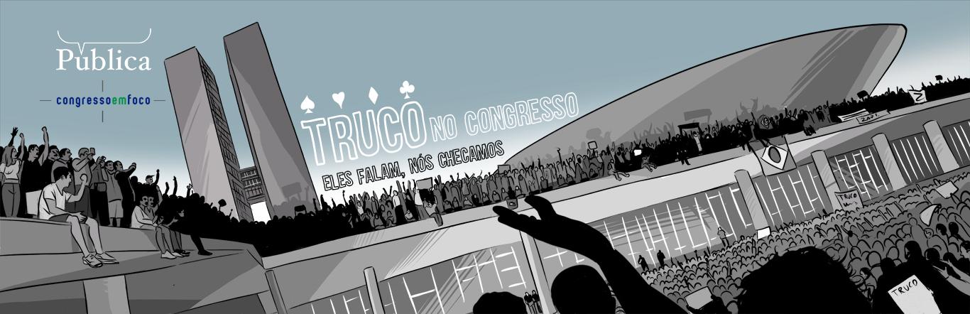 """Agência Pública relança projeto """"Truco"""" em parceria com o Congresso em Foco para checar as falas dos parlamentares semanalmente."""