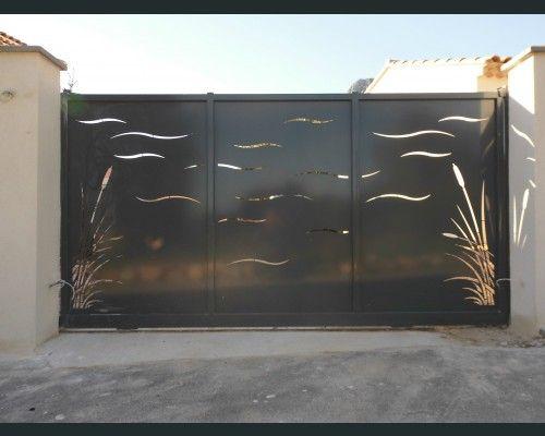 Portail coulissant moderne fence gate arch en 2019 portail coulissant portail coulissant - Portail maison moderne ...