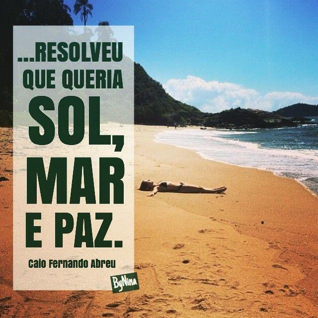 Instabyninas Photo Melhor Que Isso Quando O Mar Vira Amar