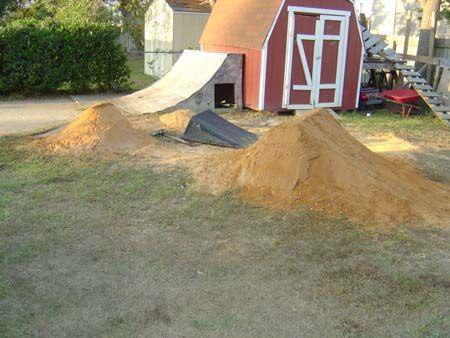 Building Dirt Jumps Dirt Bike Track Backyard Outdoor Fun