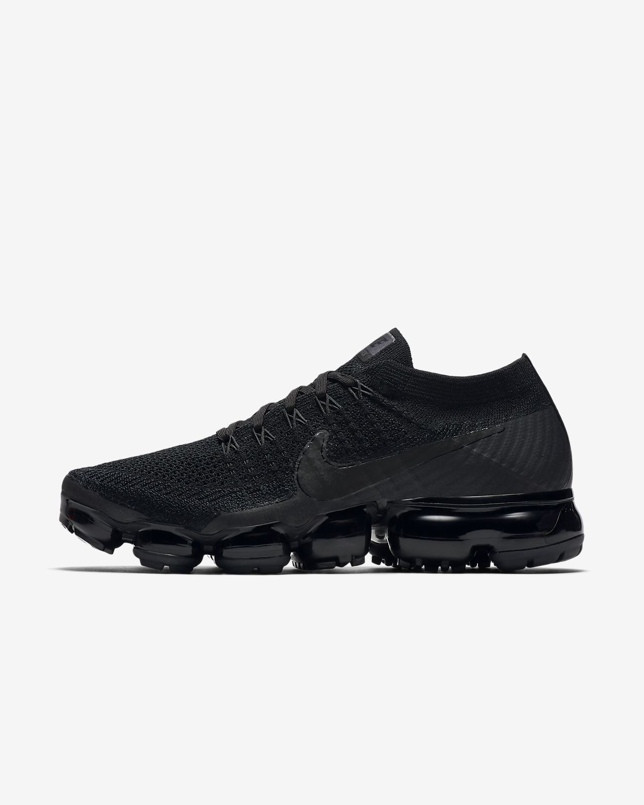 22b40dfa80 Nike Air VaporMax Flyknit 'Triple Noir' Women's Running Shoe | Fit ...