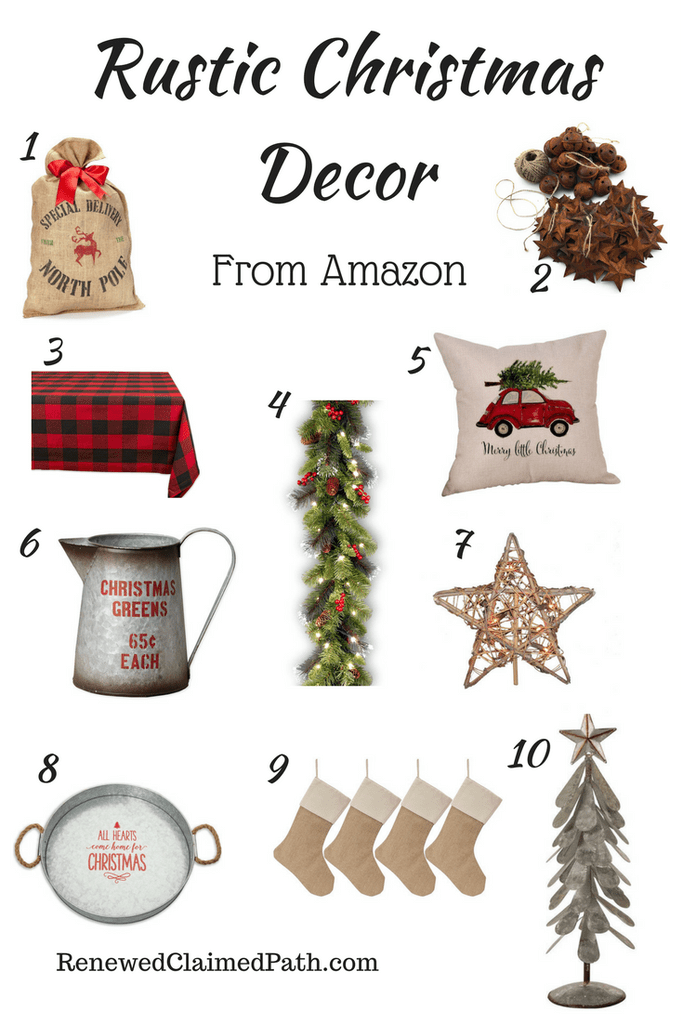 Rustic Christmas Decor From Amazon Christmas Decorations Rustic Christmas Decorations Holiday Decor