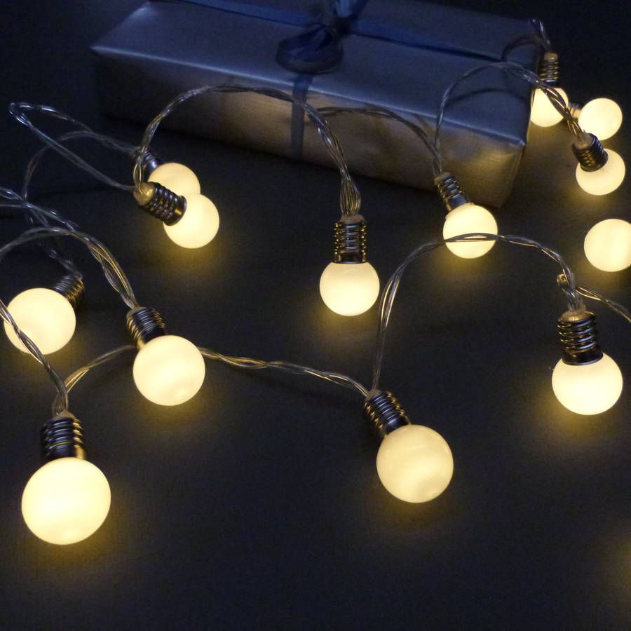 Frosted Bulb Fairy Light String