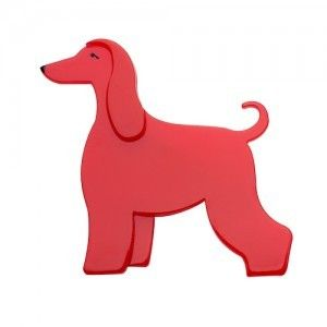 AINSLEE THE AFGHAN HOUND - RED