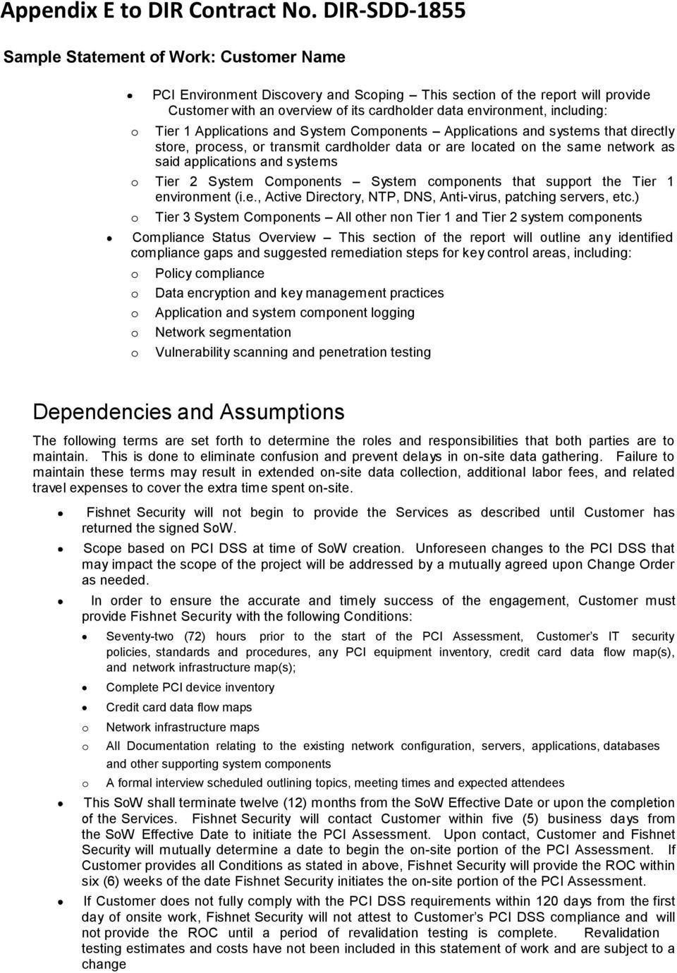 Sample Statement Of Work Pdf Free Download Within Pci Dss Gap Analysis Report Template Statement Of Work Report Template Professional Templates