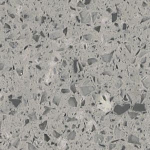 3cm Quartz 910237 Flint Recycled Glass Raised Ranch Kitchen Recycling