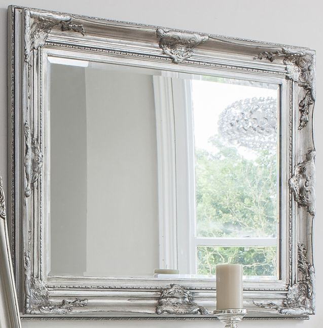 Gallery Direct Harro Silver Rectangular Mirror 85cm X 115 5cm