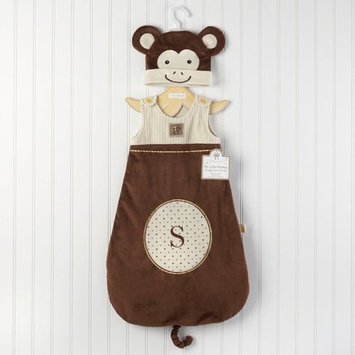Personalized Monkey Snuggle Sack and Cap by Beau-coup