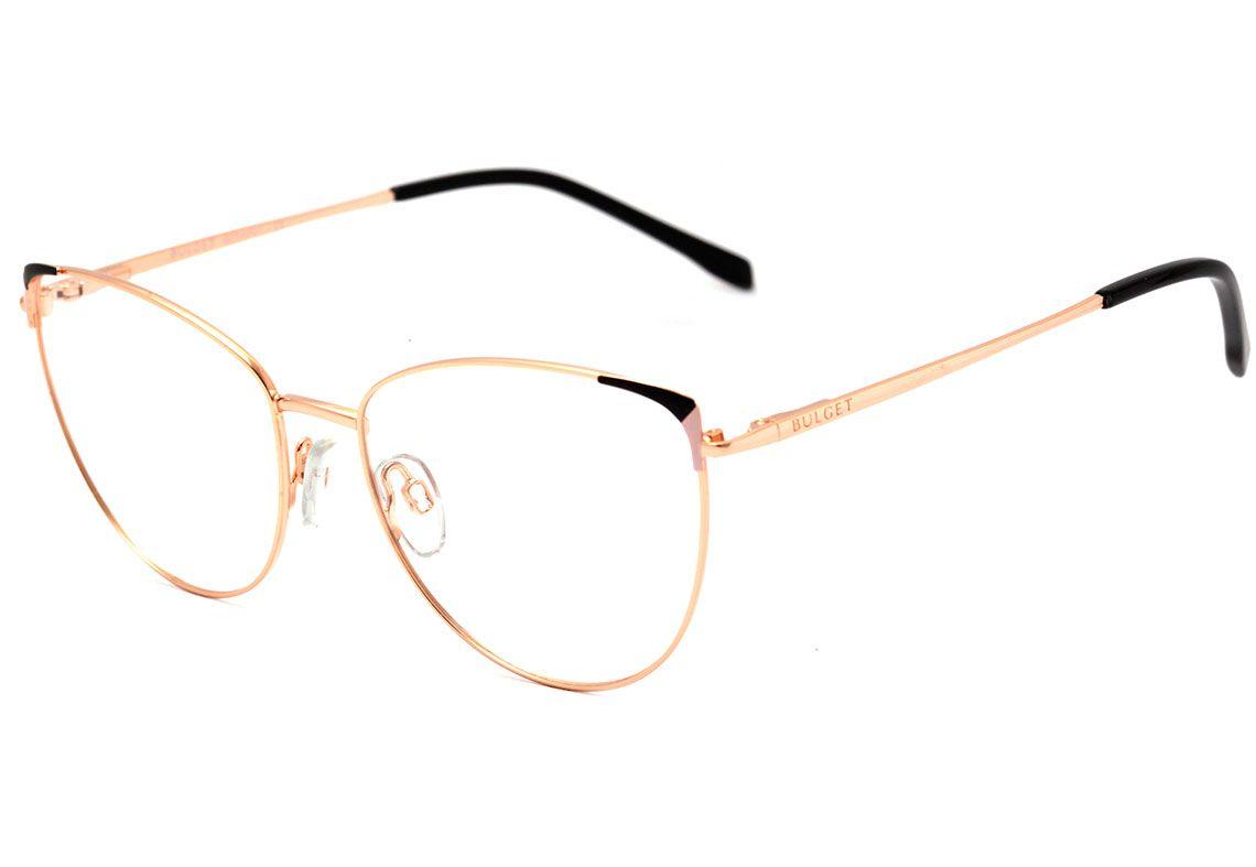 Oculos De Grau Bulget Bg 1630 04a Preto E Dourado Brilho Lente 5 6