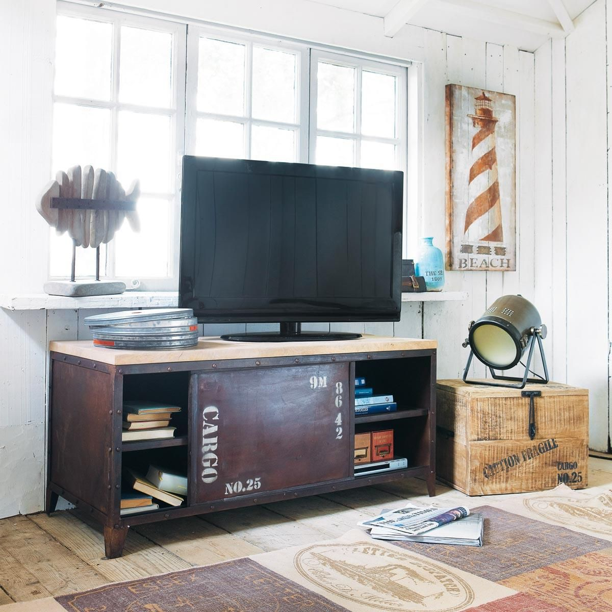 pesce decorativo lanester maisons du monde pinterest tela and tv stands. Black Bedroom Furniture Sets. Home Design Ideas