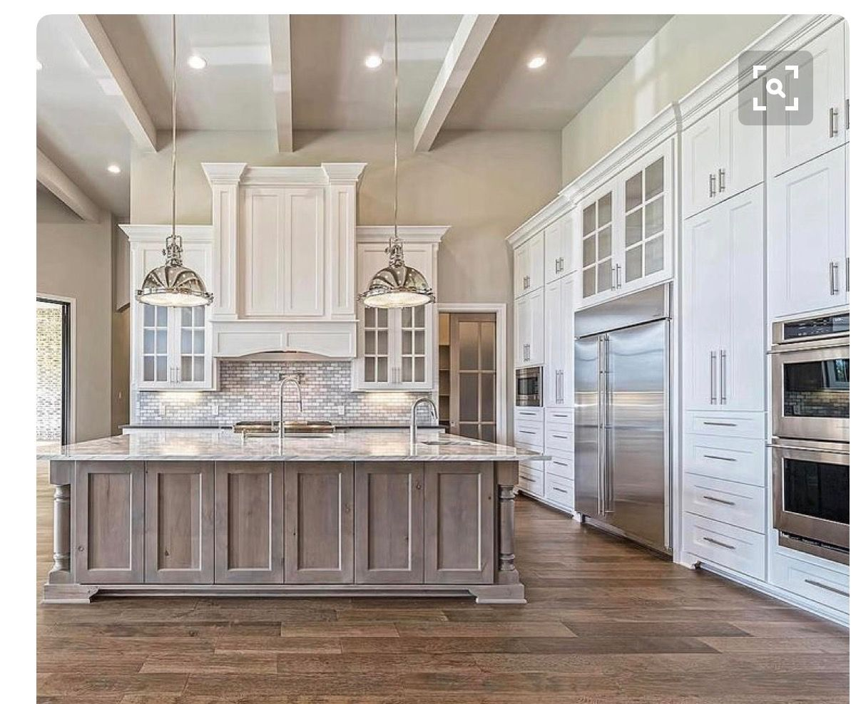This But With The Wood Grain Beams Farmhouse Style Kitchen Cabinets Modern Farmhouse Kitchens Farmhouse Style Kitchen