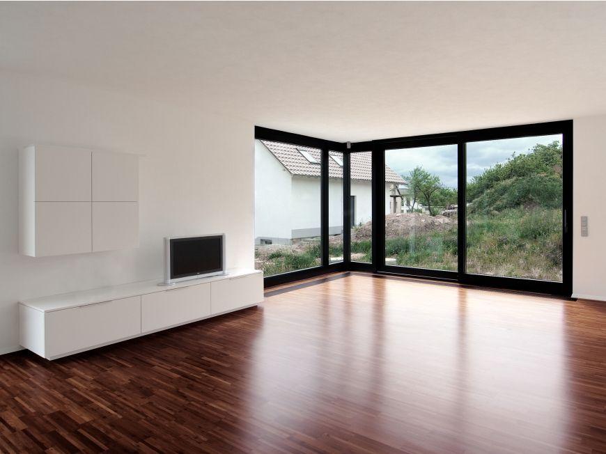 Eckfenster und Hochkantlamellenparkett Eckfenster, Haus