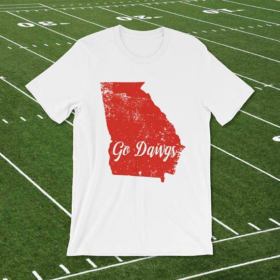 Georgia tshirt, Georgia state love, college t, Atlanta, go dawgs, distressed shirt, University of Ga, athens, game day, team support