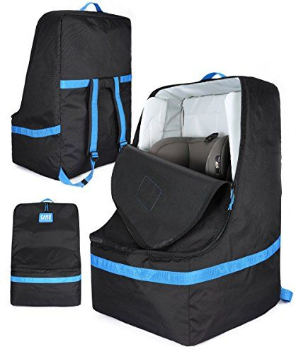 Gate Check Padded Car Seat Travel Bag For Airplanes Fits