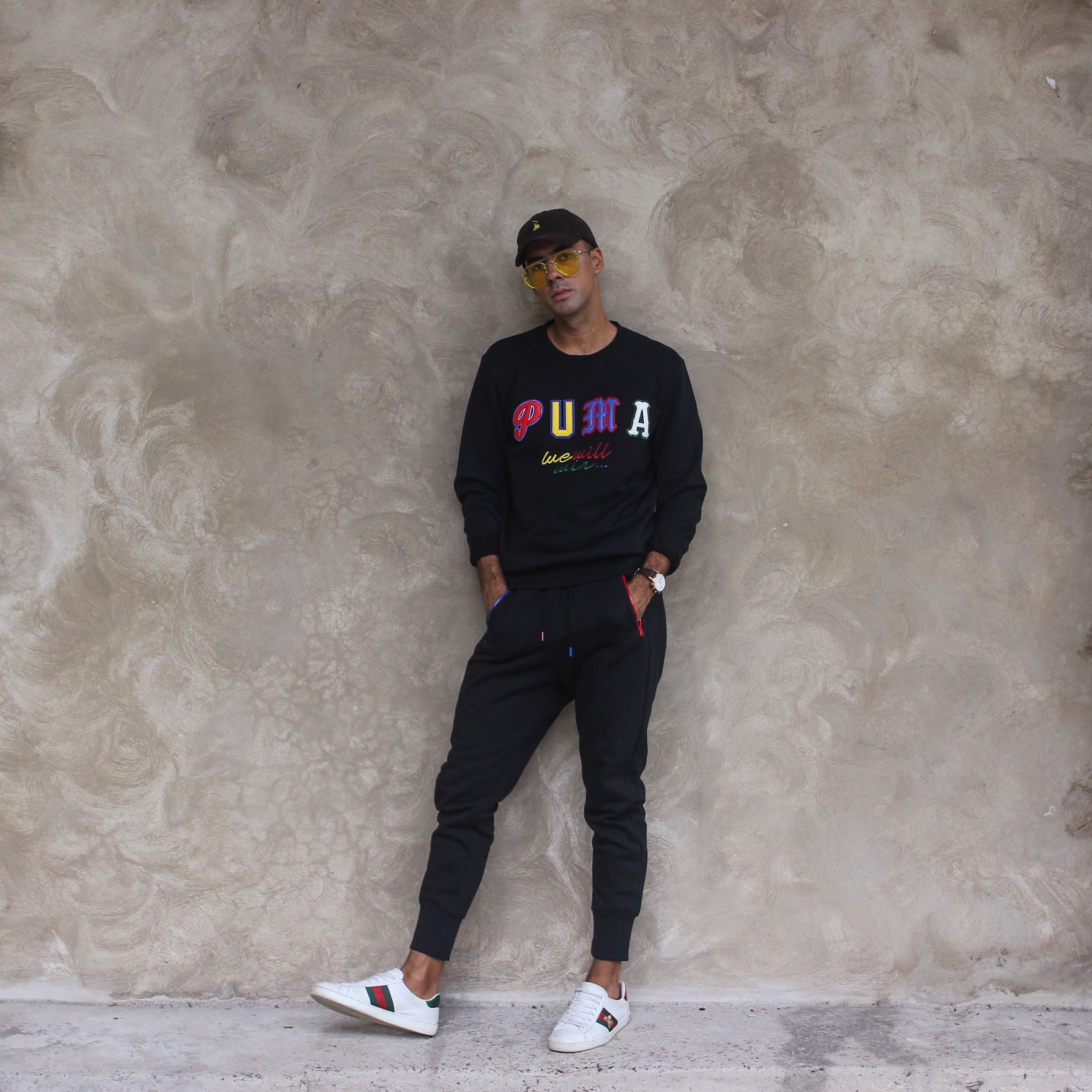 Mens Fashion Style & Outfit inspo by Blogger MR TURNER. Puma Tracksuit Set  with Gucci