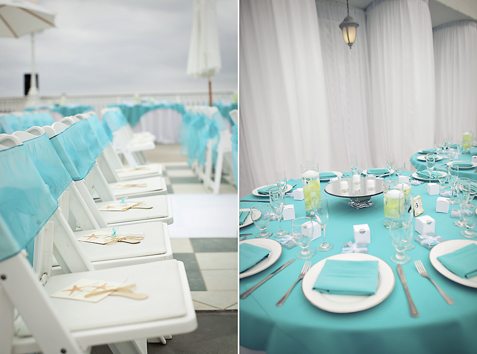 Turquoise And White Wedding