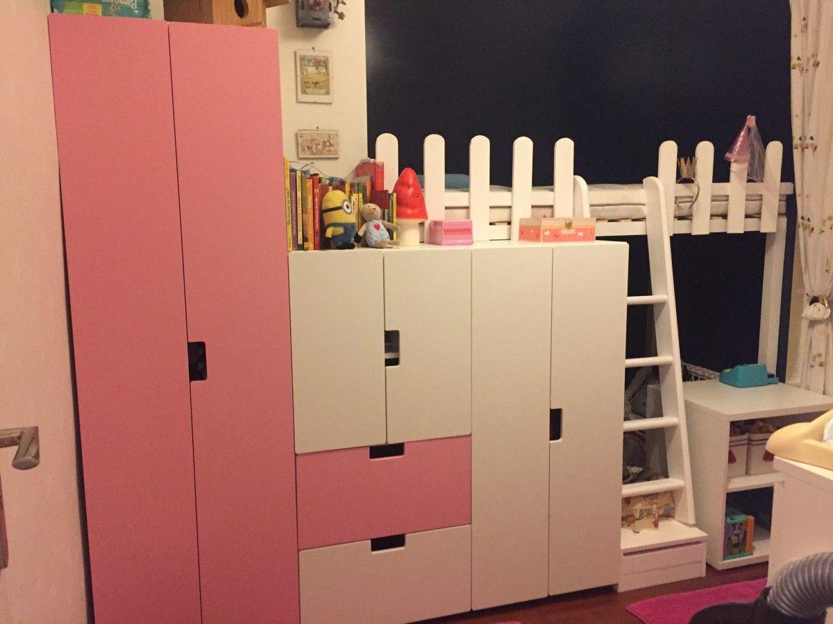 un lit cabane avec plein de rangements kinderzimmer. Black Bedroom Furniture Sets. Home Design Ideas