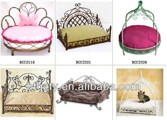 luxury metal pet dog bedswrought iron canopy pet beddog beds