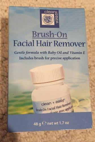 Brush on facial hair remover