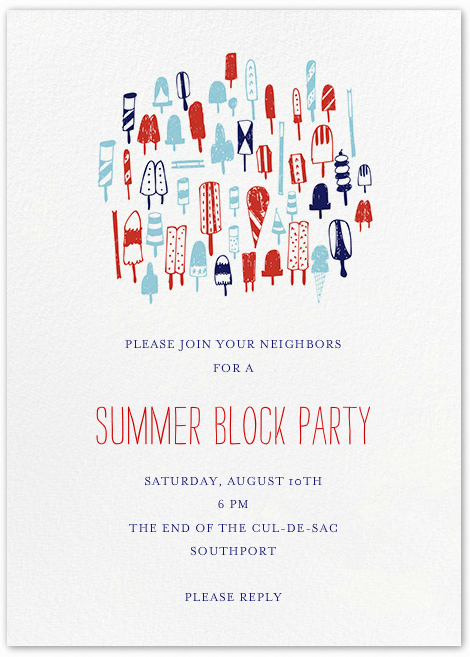 10 block party ideas to make yours the hit of the summer block party ideas save money by emailing invitations like this one from paperless post stopboris Images