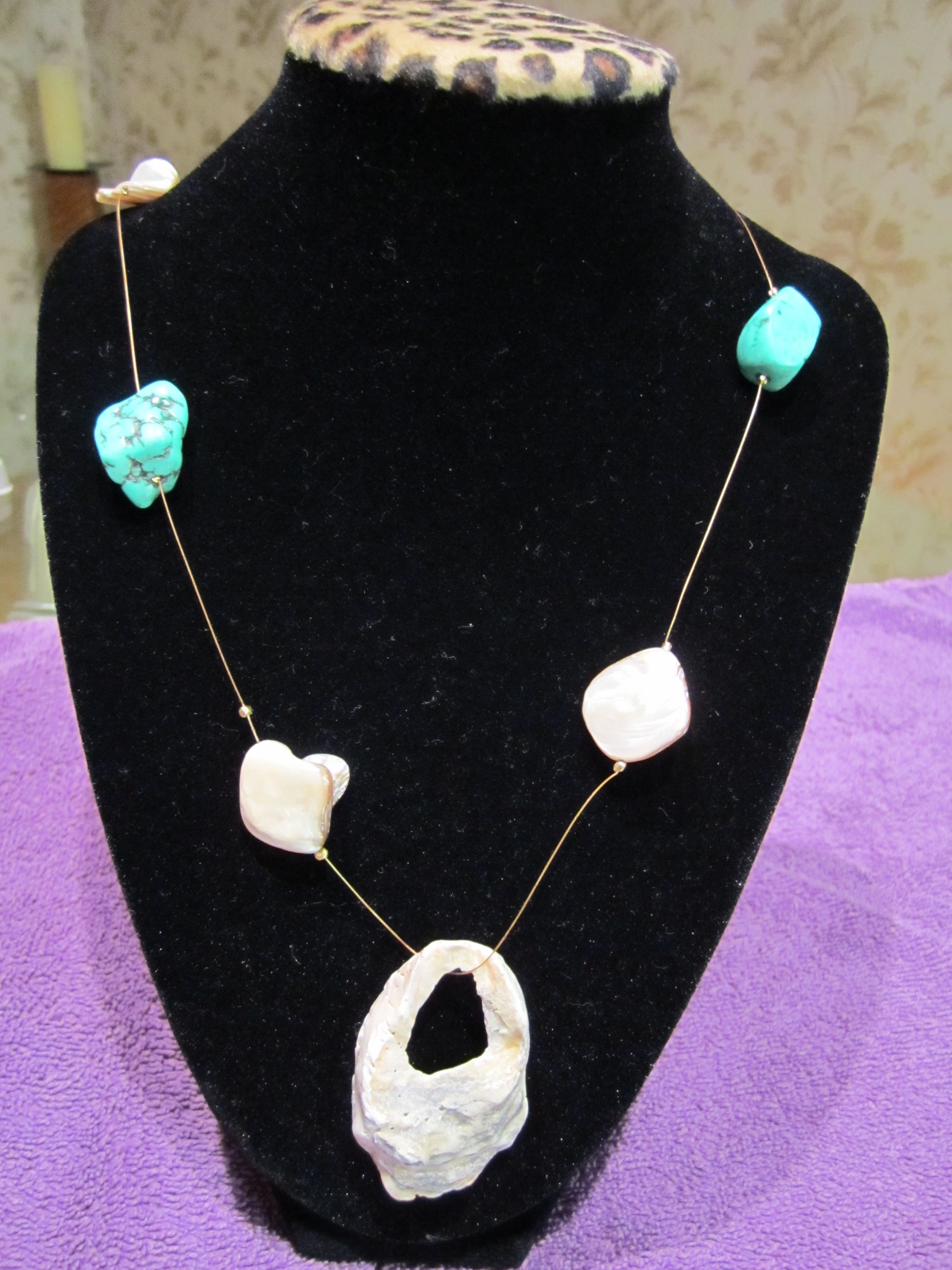 Summer Collection- Shore is Pretty Necklace-$37.99 USD/  mported by Sunset Beach & Cape May Point New Jersey-Hand picked & crafted by me. :)