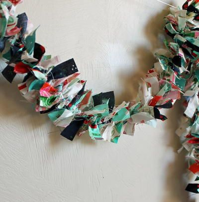 Photo of Rustic Fabric Wreath