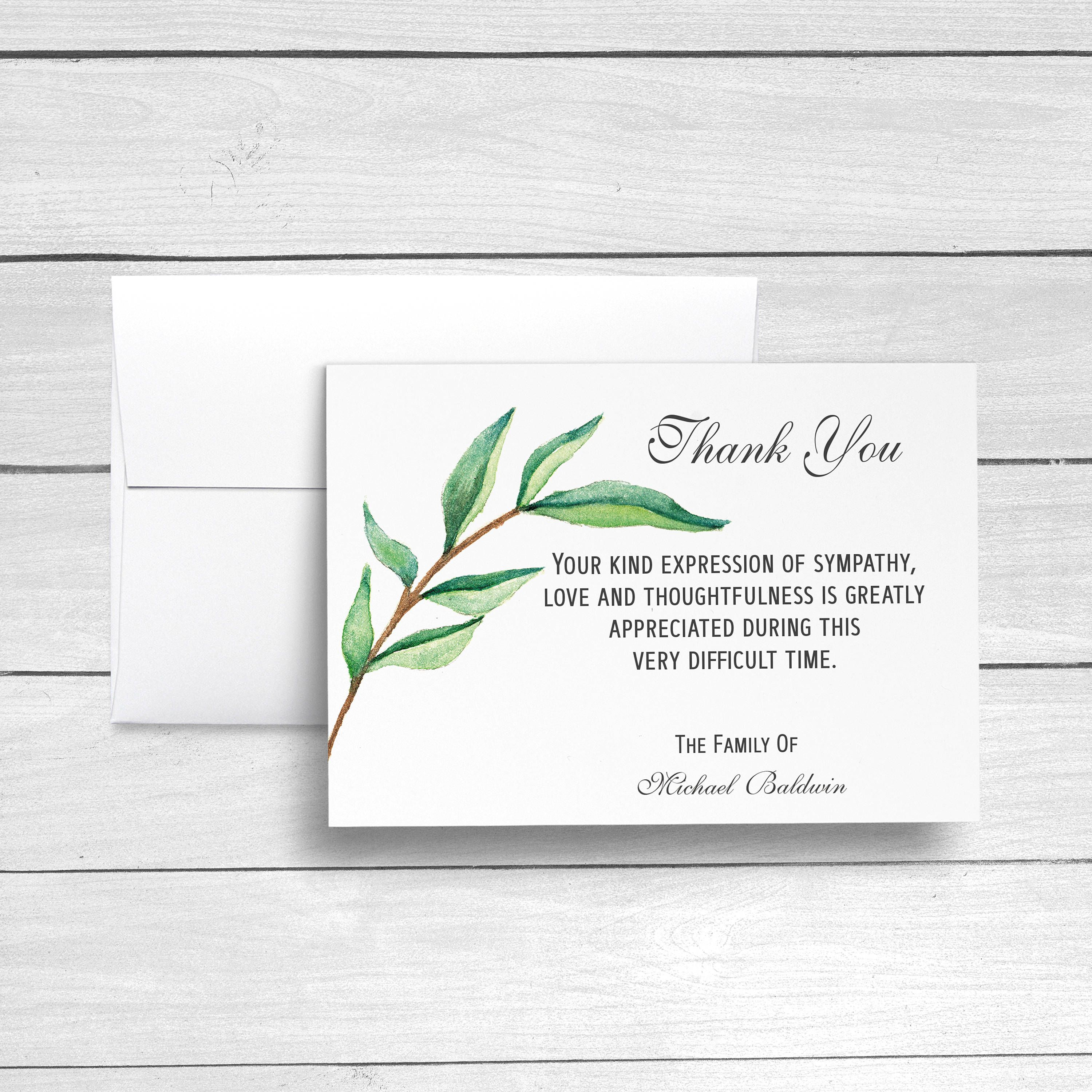 Funeral Thank You Cards Sympathy Acknowledgement Cards Bereavement Cards Sympathy T Words For Sympathy Card Sympathy Thank You Cards Funeral Thank You Cards