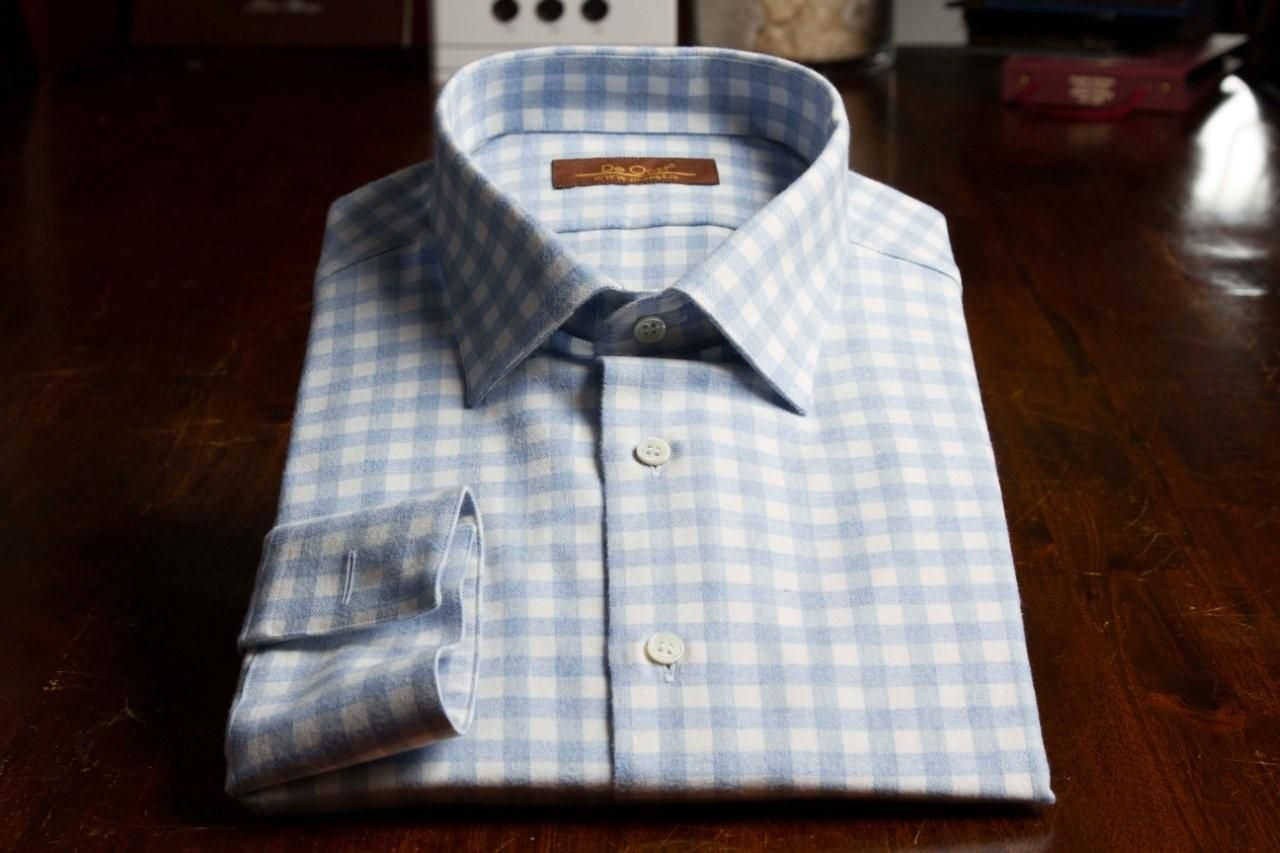 Flannel shirt under suit  Flannel Shirt u De Oost Bespoke Tailoring  Bespoke Dress Shirts
