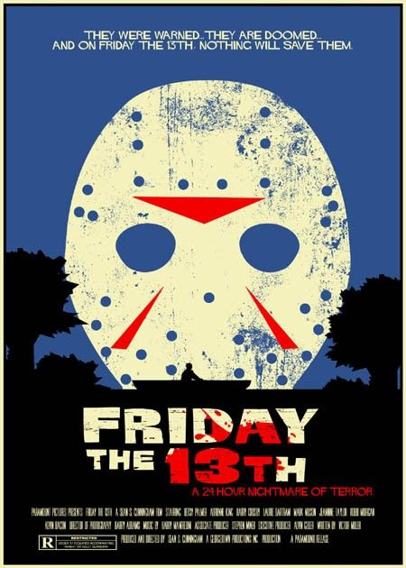 Friday The 13th Vintage Style 5x7 Print Movie Posters Vintage Vintage Movies Friday The 13th
