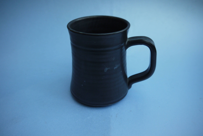 Vintage Prinknash style Small Lustre Pottery Metallic Gunmetal Grey