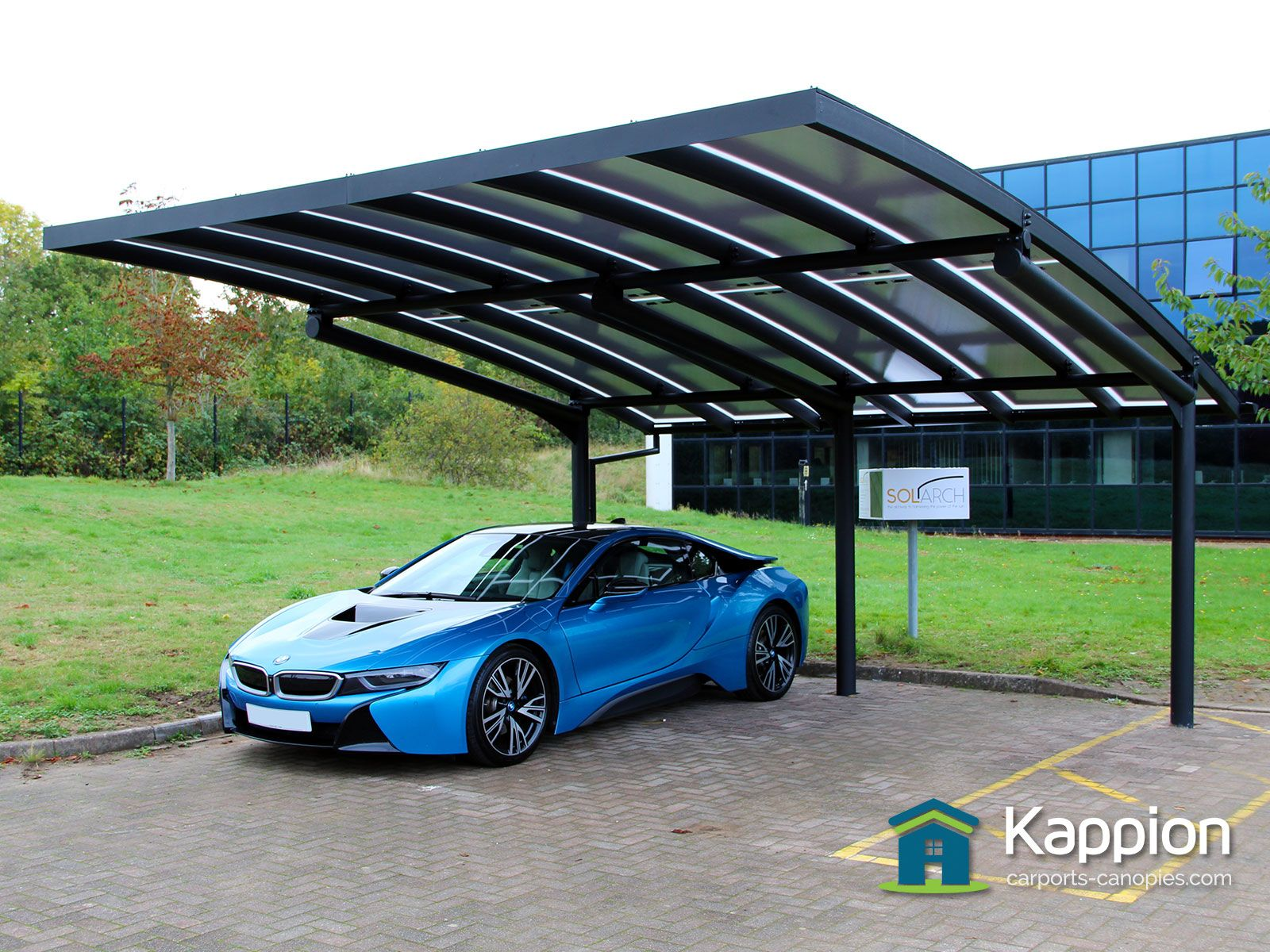 Solar Carport Finished And Commissioned Blue Green House Carport Designs Carport Plans Carport Garage