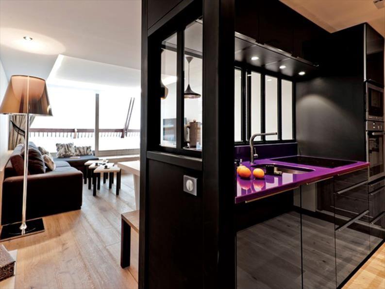 Projet de cuisines  cuisine Aspect de la façade  brillant Coin